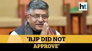 'BJP did not approve': RS Prasad over inflammatory speeches by party leaders [Video]