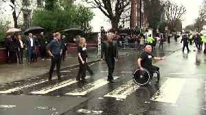 WEB EXTRA: Prince Harry and Jon Bon Jovi at Abbey Road [Video]