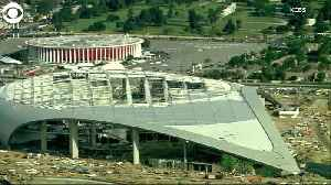 WEB EXTRA: Crane Collapse At Stadium Construction Site [Video]