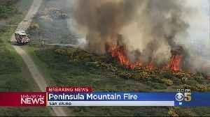 Crews Tackle 3-Alarm Fire Burning On San Bruno Mounntain [Video]