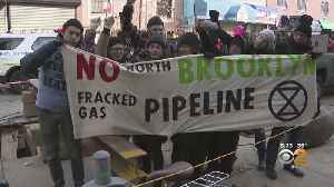 Protesters Halt Work At National Grid Pipeline Site In Brooklyn [Video]