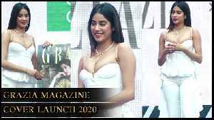 Janvhi Kapoor's H0T And BOLD Look In White At Grazia Magazine Cover Launch 2020 [Video]