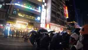 "Hong Kong protesters throw molotovs and ""funeral money"" in Mongkok [Video]"