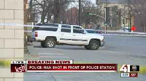 Police: Woman shoots man in front of kids at KCPD patrol station [Video]
