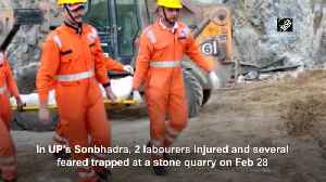 2 injured several trapped at stone quarry in UP Sonbhadra [Video]