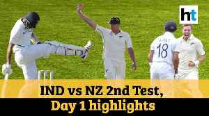 IND Vs NZ 2nd Test: Jamieson, openers put Kiwis on top [Video]