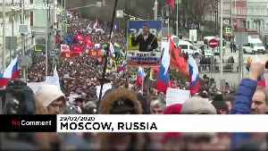 Opposition urges 'Russia without Putin' in rally to remember murdered politician Boris Nemtsov [Video]