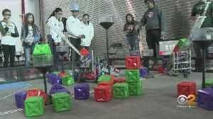 6th Annual VEX Robotics Competition Held At Vaughn College [Video]
