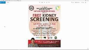 Free Kidney Screening [Video]