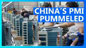 Chinese manufacturing hits record lows amid Wuhan virus [Video]