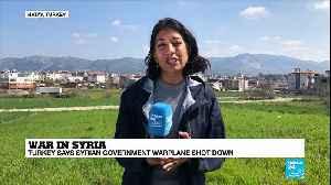 Syria: Turkish fighter jet downs Syrian warplane over Idlib [Video]