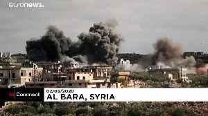 Smoke billows after air strikes hit Syrian towns of Al-Bara and Baylun [Video]