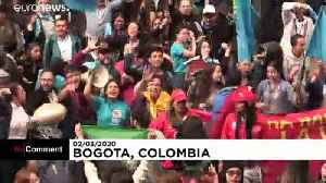 Abortion activists clash in Colombia [Video]