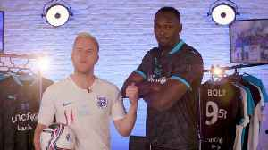 Ollie Murs and Usian Bolt launch Soccer Aid's 2020 match [Video]