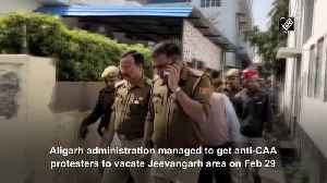 Aligarh Administration convinces locals not to participate in anti CAA protest [Video]