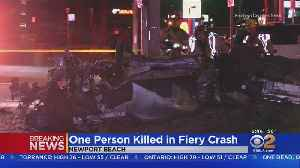Man Killed, Woman Seriously Hurt In High-Speed Crash Into Newport Beach Pole [Video]