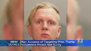 Florida Man Accused Of Targeting Trump Volunteers Pleads Not Guilty [Video]