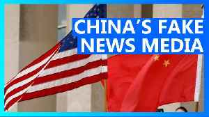 U.S. orders China fake news to cut U.S. staff in America by 40% [Video]