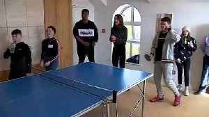Prince William and Kate play table tennis [Video]