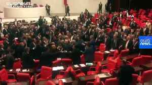 Watch: Brawl in Turkish parliament over military action in Syria [Video]