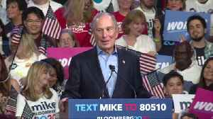 Large crowd looking for details on issues at Bloomberg rally [Video]