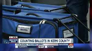 Counting up the ballots at the Kern County Elections Headquarters [Video]