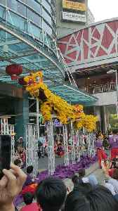 Stilt Dancers Wearing Dragon Costumes Celebrate the Coming of the Dry Season in Malaysia [Video]
