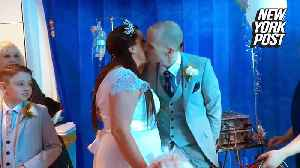 Transplant patient marries fiancée in emotional hospital ceremony [Video]