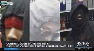 Cops Searching For Queens Liquor Store Robbers [Video]