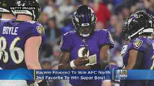 Ravens Favored To Win AFC North, 2nd Favorite To Win Super Bowl [Video]