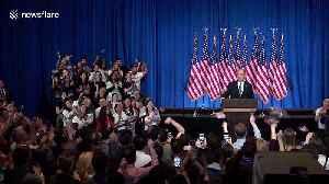 Michael Bloomberg tears up after quitting 2020 race, endorses Joe Biden [Video]