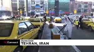 Tehran disinfects streets to protect against COVID-19 coronavirus [Video]