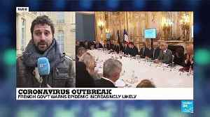 Coronavirus outbreak: French president Emmanuel Macron holds talks with health experts [Video]