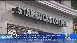 Starbucks Suspends Personal Cup Use At Stores Due To Coronavirus [Video]