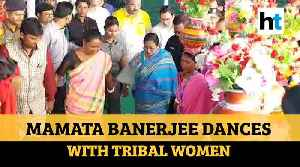 Watch: Mamata Banerjee attends mass marriage in Malda, dances with tribal women [Video]