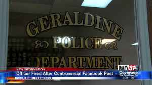 Geraldine Assistant Police Chief fired after controversial Facebook post [Video]