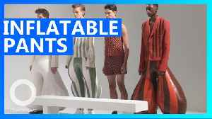 Inflatable latex pants for dudes may be the next big fashion trend [Video]