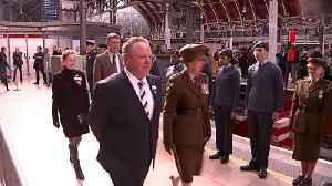 Princess Anne unveils train named after Odette Hallowes [Video]