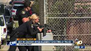 Boy in custody after allegedly firing at SDPD [Video]