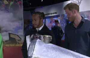 Prince Harry and F1's Lewis Hamilton tour new Silverstone museum [Video]