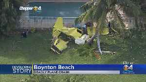 One Person Dead After Small Plane Crashes In Boynton Beach [Video]