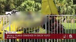 Small plane crashes in Boynton Beach backyard [Video]