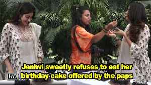 Janhvi sweetly refuses to eat her birthday cake offered by the paps [Video]