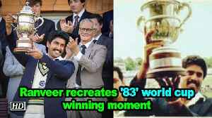 Ranveer Singh recreates '83' World Cup winning moment [Video]