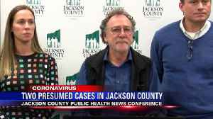 Jackson County hosts press conference on two COVID-19 cases [Video]