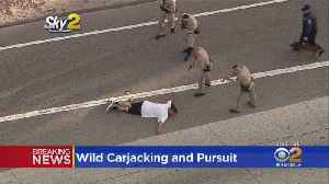 Carjacking Suspect In Custody After Dangerous Pursuit In San Gabriel Valley [Video]