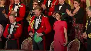 Harry and Meghan receive standing ovation at Royal Albert Hall [Video]