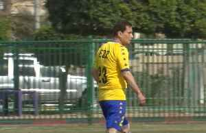 Egyptian striker plays first match to qualify as oldest professional footballer [Video]