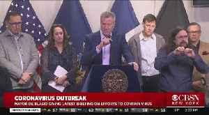 Coronavirus Update, March 8: Mayor Bill de Blasio Talks On NYC Response (Part 1) [Video]