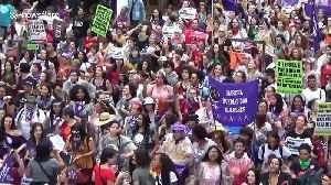 Feminist groups in Brazil protest against President Bolsonaro on International Women's Day [Video]